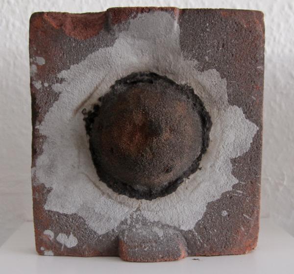 Solar flare, Detail, Resin bonded sand, Caroline Inckle, 2013.
