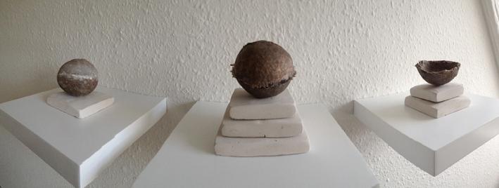 Corpora Caelestia, Stone, bronze casts and chalk plinths, Caroline Inckle 2013