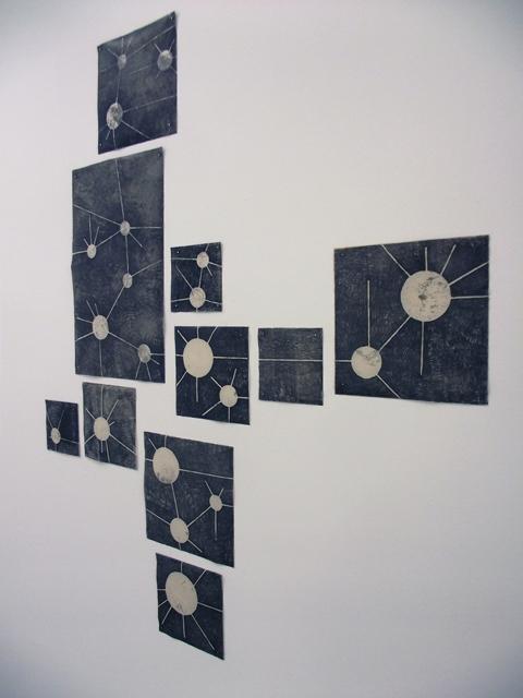 Relational Holes  Caroline Inckle 2013 Monoprint on paper