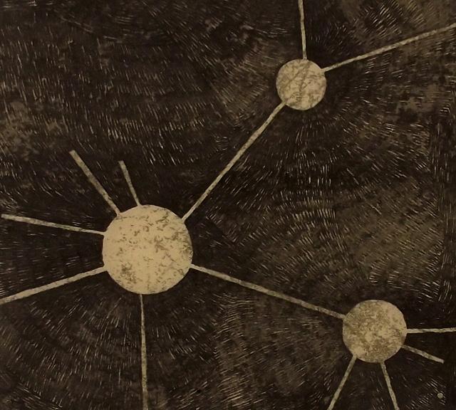 Caroline Inckle_Relational holes detail 1_Ink on paper_Dimentions variable_2013 web